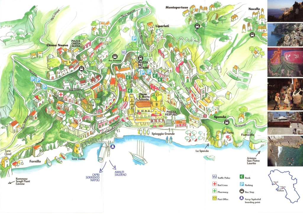 Positano Italy Map